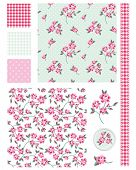 Vintage Shabby Chic Rose Seamless Patterns.  Use to create fabric projects or design elements for scrap booking.