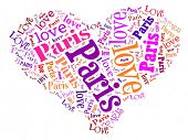Love heart of  Paris