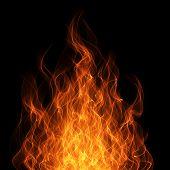 Постер, плакат: Огонь и пламя фон