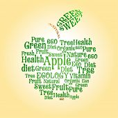 Vector apple of wordcloud