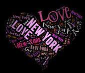 Wordcloud: love heart of city New York