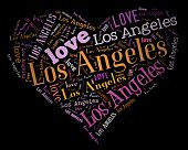 Wordcloud: love heart of city Los Angeles