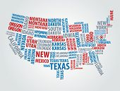 picture of political map  - Text USA map - JPG