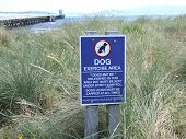 Dog Exercise Area Sign