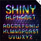 Colorful Shiny Alphabet