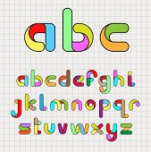 Colorful Funny Alphabet