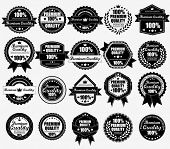 Premium Quality Labels Collection WIth Retro Vintage Design