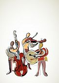 retro abstract musicians