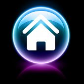 neon glossy web icon - home
