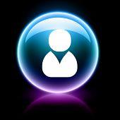 neon glossy web icon - member