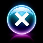 neon glossy web icon - cancel