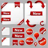 Etiquetas de papel, etiquetas & elementos de diseño web