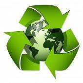 Reciclar el símbolo del globo