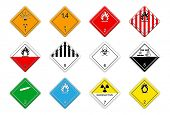 stock photo of bio-hazard  - Hazardous goods signs - JPG