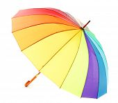 colorful umbrella, isolated on white