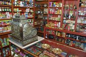 Loja Interior Wirh Vintage caixa registradora