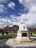 Statue Of Queen Victoria In Front Of Kensington Palace, London