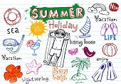 Summer holiday doodles