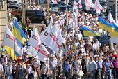 Mass meeting of Ukrainian opposition