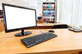 Modern Personal Computer On Desktop In Office Room
