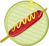 Icon Illustration Featuring a Hotdog on a Stick
