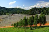 Sunken village - Nature pollution of a copper mine exploitation
