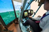 Demonstration of helicopter simulator