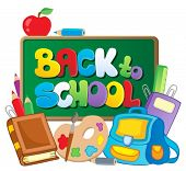Back to school thematic image 2 - vector illustration.