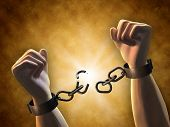 stock photo of bondage  - Recovering freedom - JPG