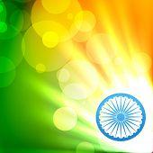 beautiful glowing india flag vector design