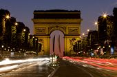 Champs-Elysees Avenue At Night
