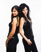 Happy young women friends