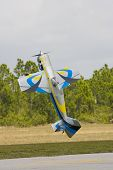 An R/c Model Doing An In Flight Tail Stand