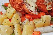 Chicken Cordon Bleu With Boiled Potatoes