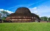 stock photo of vihara  - Ancient Pabulu Vihara stupa in Polonnaruwa Sri Lanka march 2011 - JPG