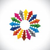 Abstract, Colorful & Brilliant Creative Design Star Symbol
