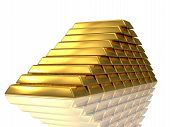 Golden Bars Pyramide