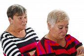 Two Female Seniors In Dispute