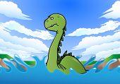 Gigantic Dinosaur Swimming