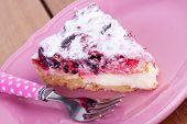 a slice of berry tart