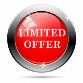 picture of exclusive  - Limited offer icon with white on red background - JPG