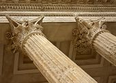 Close-up of Corinthian Columns