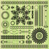 collection of abstract floral pattern