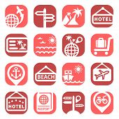 color travel vector icons