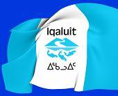 Flag Of Iqaluit, Canada.