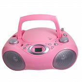 image of dick  - pink mp3 stereo cd radio recorder isolated - JPG