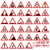 stock photo of traffic rules  - Set of traffic signs - JPG