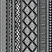 stock photo of tribal  - Abstract tribal pattern - JPG