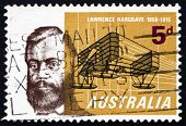 Postage Stamp Australia 1965 Lawrence Hargrave, Aviation Pioneer