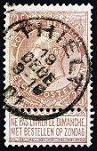 Postage Stamp Belgium 1893 King Leopold Ii Of Belgium
